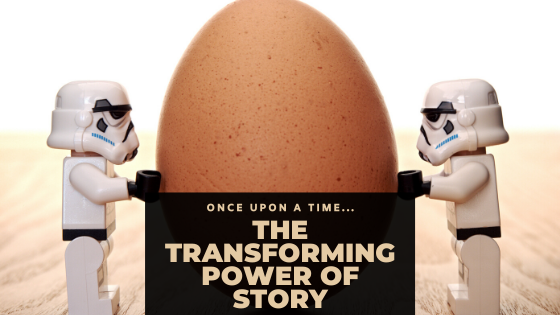 make this stuff up, storm troopers pushing giant egg, once upon a time, the transforming power of story, you can't make this stuff up