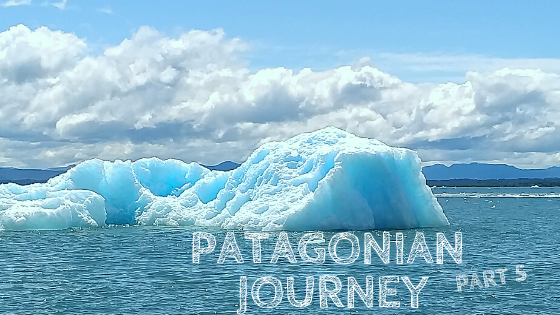 bucket of benefits, Patagonian Journey Part 5, iceberg at Laguna San Rafael, San Rafael Lagoon, blue and white lake landscape, Chile, tours, Psalm 103:1-5, ice magic, catamaran Chaitén, zodiac, awe, God's blessings, Elizabeth Barrett Browning