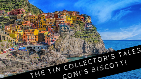 Italian tragedy, the tin collector's tales, Coni's biscotti, Cinque Terre coast of Italy with blackboard tag, coronavirus tragedy, God, Italy, hands of God, wasted time, bicerin, Waldensians, Savoy, Canadian prairies, Spanish influenza pandemic, C.S. Lewis, pain,