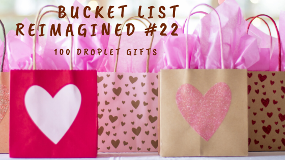 5 options at a gift exchange, gift exchange, bucket list reimagined, array of gift bags in pink and brown tones, gift bags, yankee swap, swap it, lose it, keep it, toss it, hide it, use it, gifts, God's gifts, servant, gift options